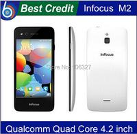 "Foxconn Infocus M2 4G FDD LTE 4.2"" IPS screen 1280X768 Android 4.4 MSM8926 Quad Core 1GB/8GB 8MP+8MP 4G Mobile Phone BT WIFI/Eva"