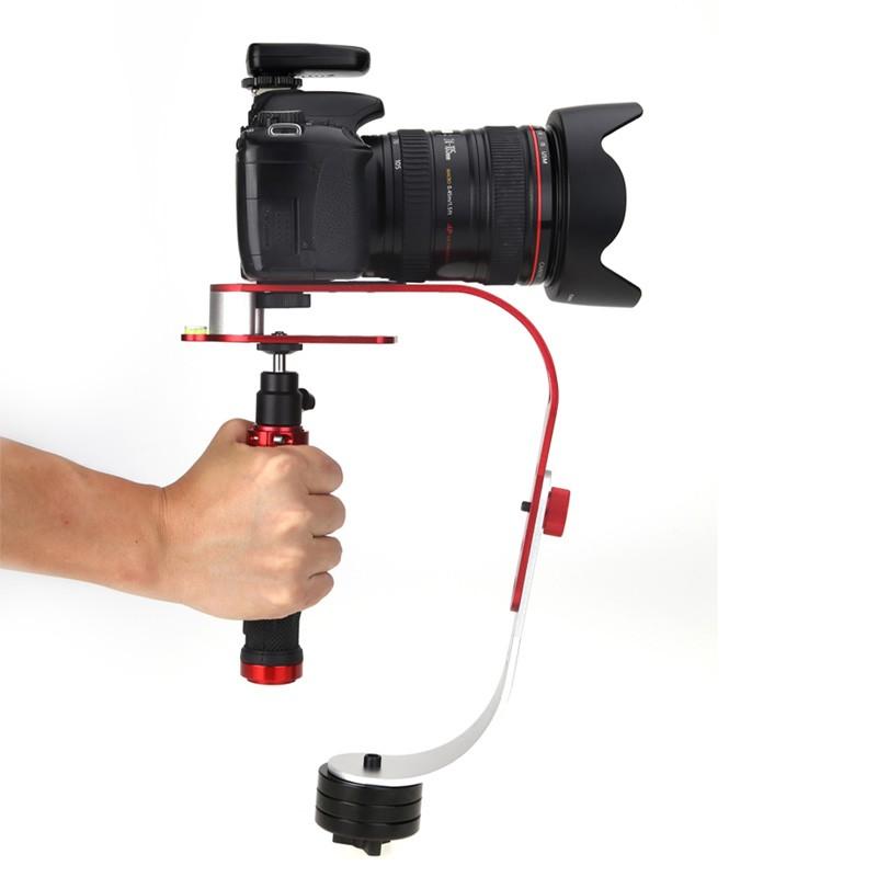 ถูก มินิproมือถือกล้องวิดีโอs teadicam s tabilizerสำหรับcanon nikon sony gopro heroกล้องดิจิตอลคอมแพ็คdslrพร้อมกล่องค้าปลีก