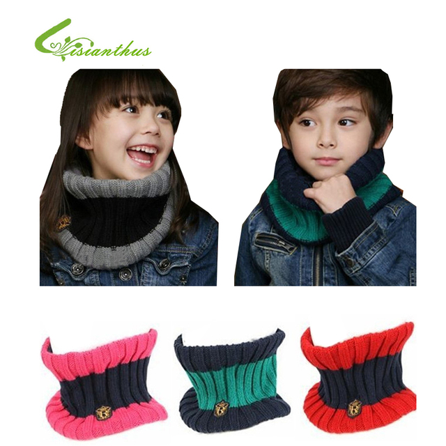 Baby Scarf Children Cotton Wool Scarf Autumn Winter Warm O Ring Knitted Scarves Shawl Retail Free Shipping Drop Shipping Gift