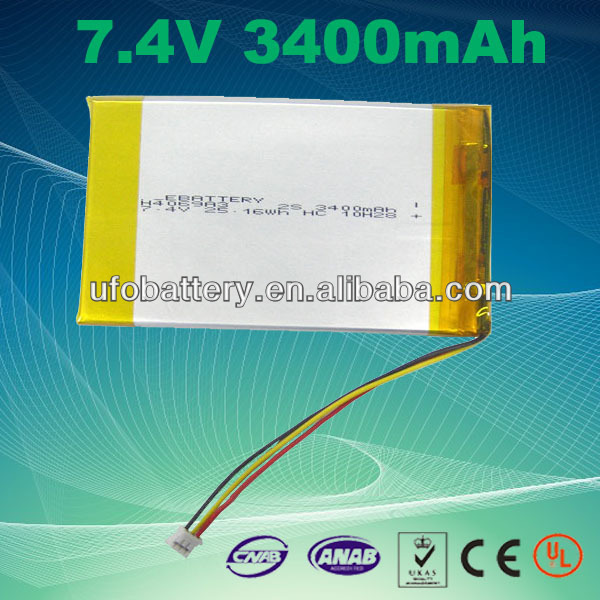 china supplier 0568110 3.7V around 3400mAh lipo battery li-ion battery for for GPS,DVD,PDA,Cellular phone,mobile phone,notebook(China (Mainland))