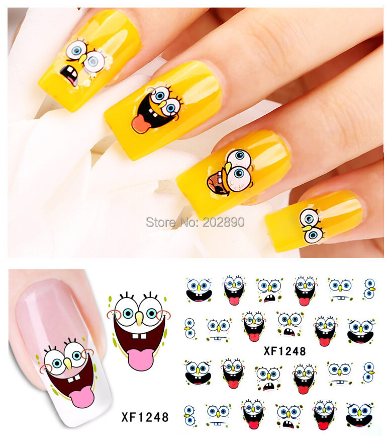 1sheet Nail Art Water Transfer Stciker Decals Sponge baby New Stickers Decorations Watermark Tools for Polish XF1248(China (Mainland))