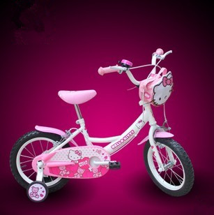 Free Shipping! 14 inch hello kitty bicycles for children pink Princess kids bike