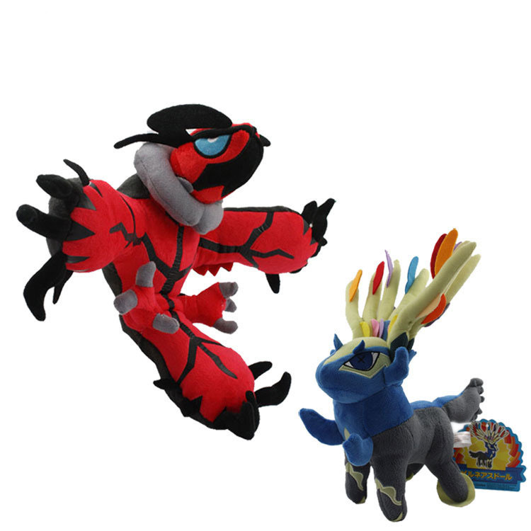 EMS 50pcs Pokemon Plush Doll 718cm Yveltal Xerneas Stuffed Plush Toys With Tag Free Shipping<br><br>Aliexpress