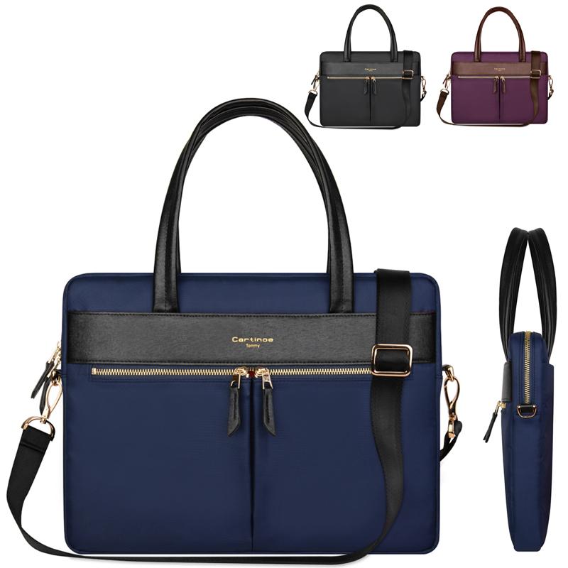 ถูก ผู้หญิงกระเป๋าแฟชั่นหนังPUกระเป๋าถือแล็ปท็อป15.4นิ้วกระเป๋าสบายๆMessengerสีทึบถุงกันน้ำสำหรับแล็ปท็อปแท็บเล็ตโทรศัพท์
