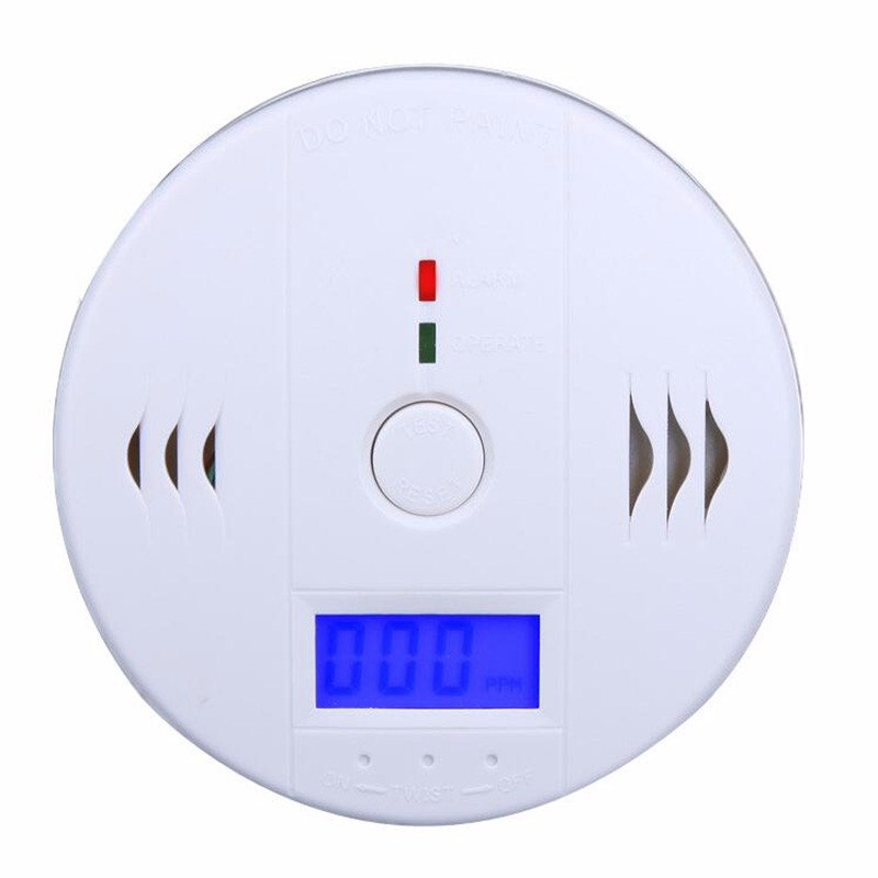 Hot New High Sensitive LCD Carbon Monoxide Detector Tester Fire Alarm Monitor Smoke CO Sensor Detector For Home Security Safety