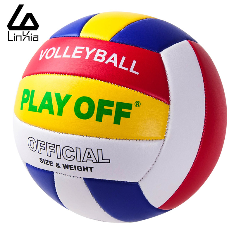Outdoor Sand Beach Volleyball Game Ball Thickened Soft PU Leather Volley Ball Match Training Volleyball Voleibol Ball Size 5(China (Mainland))