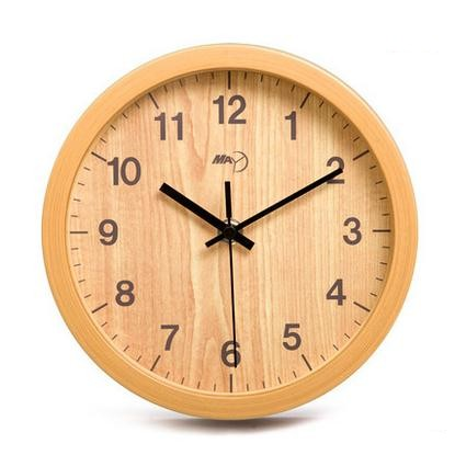 wall clock bedroom retro mute creative imitation wood clock super contracted quartz clocks wall world(China (Mainland))
