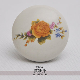 10pcs lot free shipping European contemporary and contracted painted porcelain  drawer cabinet wardrobe door knob 101-1VF-186<br><br>Aliexpress