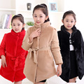 2016 new girls brand winter coat for kids 4 13 year baby girl warm jacket coat