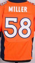 Men's 25 Chris Harris Jr 22 C.J. Anderson 13 Trevor Siemian 95 DEREK WOLFE Orange blue and white elite jerseys(China (Mainland))