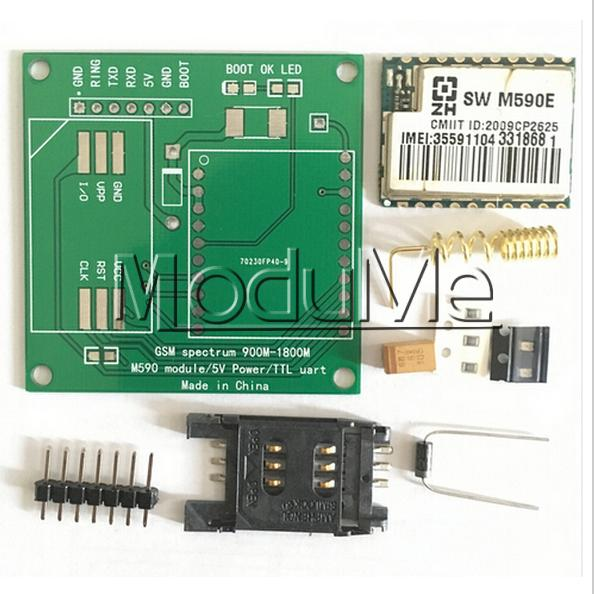 M590E GSM GPRS Module 900m-1800m Sms The Message Diy kits M590 Sms CPU MCU Test(China (Mainland))