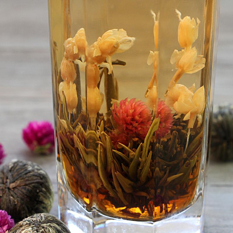 Herbal tea process tea jasmine tea ball Thousand Days red and Hao Silver Needle tea Random 1(China (Mainland))