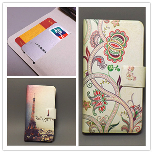 Ultra thin Flower Flag vintage Flip cover Sony Xperia J ST26I ST26a cell phone Case Freeshipping - leather case111 store