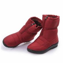 Botas de nieve 2016 Invierno marca calientes antideslizantes impermeables botas de mujer zapatos de la madre ocasional de algodón de invierno botas de mujer primavera zapatos(China (Mainland))
