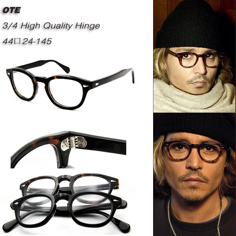 High Quality Johnny Depp Style Vogue Retro Vintage Prescription Glasses Optical Spectacle Frame(China (Mainland))