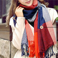 New Sale Autumn Winter Warm Scarf Women Stole Plaid Scarves Tippet Wraps Brand Ladies Classic Neckerchief
