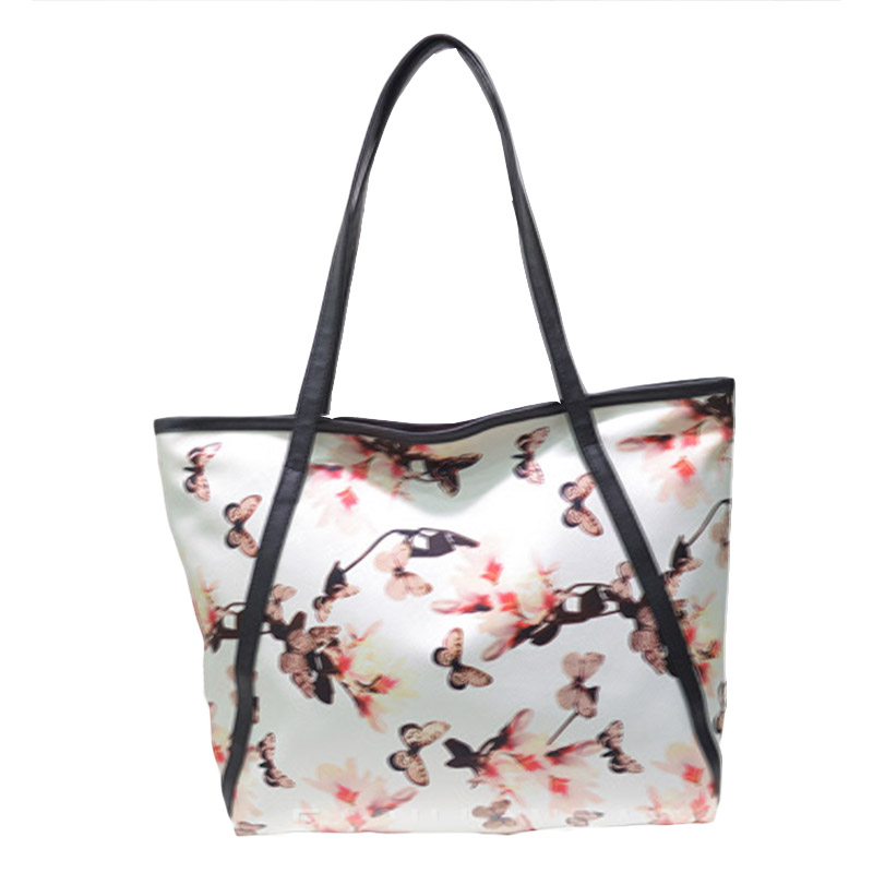 Fashion Women s Large Capacity Handbag High Quality Ladies Floral Casual Tote Lightweight Zipper Shopping Bag