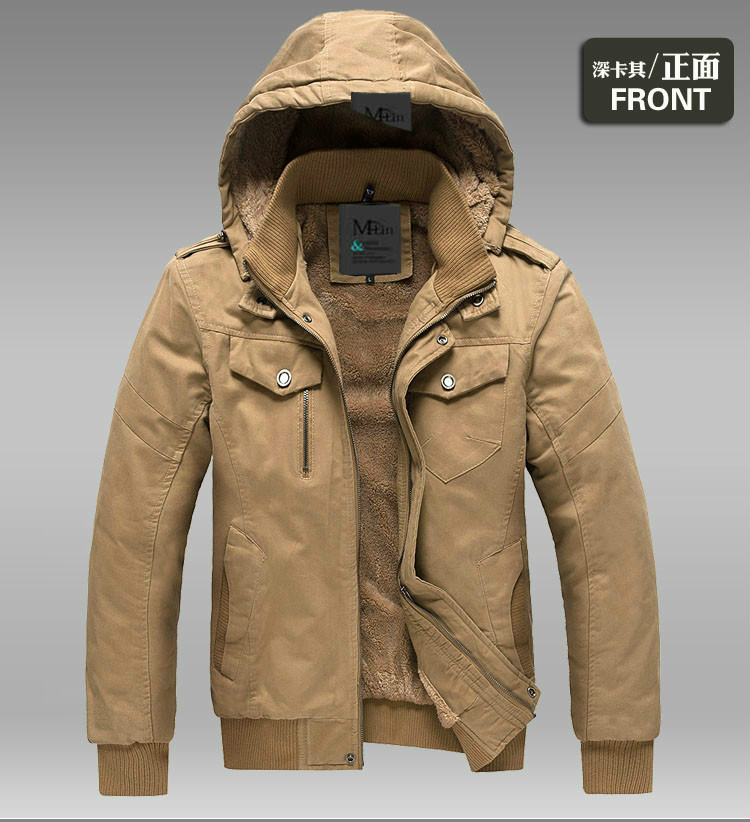 Images of Mens Hooded Winter Coats - Reikian