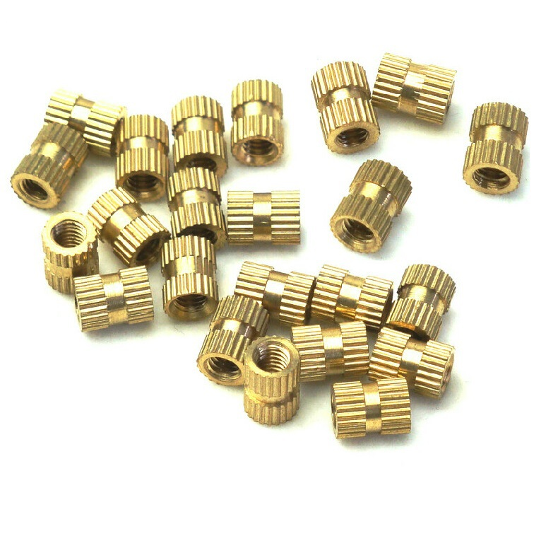 Brand New 100pcs /Lot M3X5X4mm Copper Knurled Nut Through-hole Brass Insert Round Nut Injection Moulding<br><br>Aliexpress