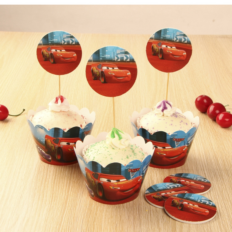 Car Cupcake Wrapper Toppers Halloween Decoration Gift for Boys Happy New Year Decor Christmas Ornament Products Kitchen Supplies(China (Mainland))