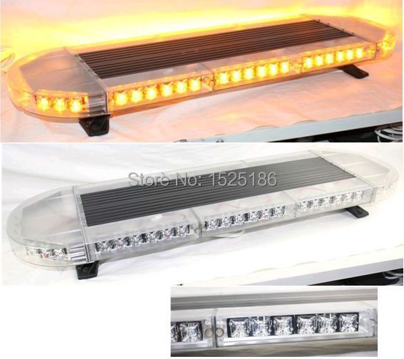 Free Shipping high bright Generation III 1Watt LED lightbar led light bar led warning lightbar amber led lightbar LAL-060(China (Mainland))