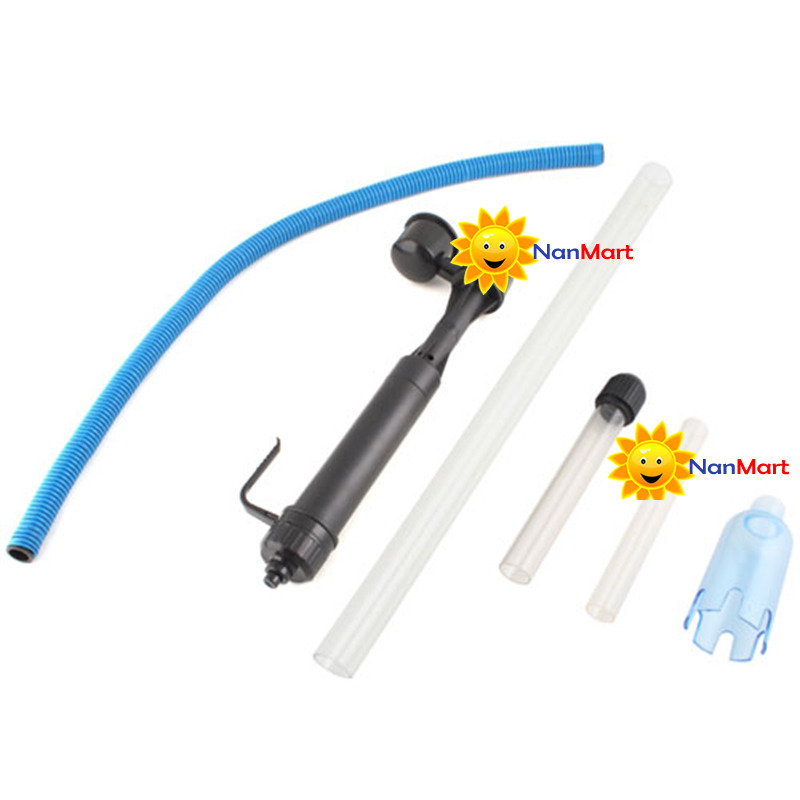 NanMart Multicolor! Aquarium Battery Syphon Fish Tank Vacuum Gravel Cleaner DIY(China (Mainland))