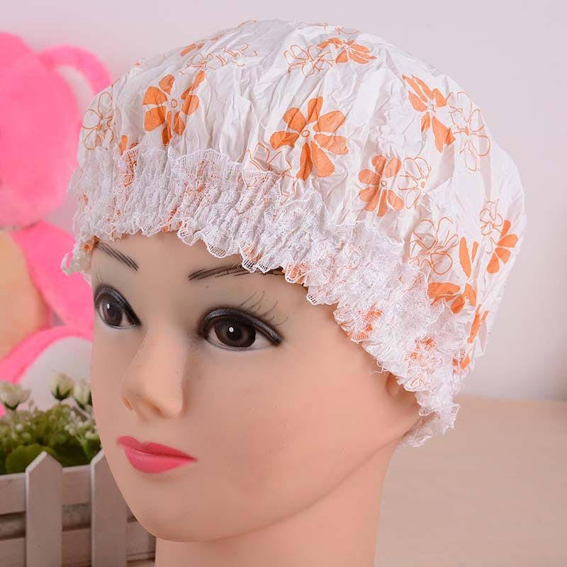 Bath Cap - Hot Sale Japanese Garden Floral Thicker Waterproof Shower Cap #1779903(China (Mainland))