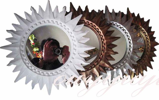 Grande grande d coration cosm tique mur antique salle de for Gros miroir rond