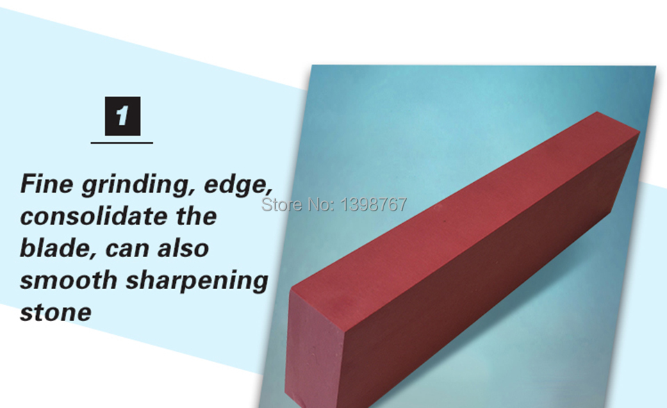 Buy 1pc Ruby Whetstone Knife Sharpener stone Super Fine 3000 grit  200*50*25mm free shipping cheap