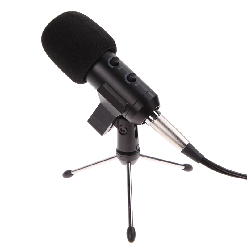Professional USB Cardioid Condenser Microphone Audio Studio Vocal Recording Mic Broadcasting Microphone + Mount Stand<br><br>Aliexpress