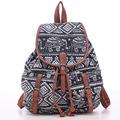 New Vintage Canvas Floral Geometric Print Causal Women Bag Traveling Bag Student School Bag Natioal Backpacks