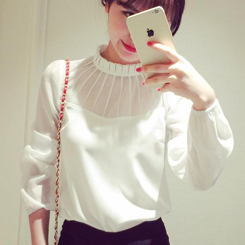 Lastest Shirt Women Blouses 2017 Summer Transparent Blouse Women Blusas Tops