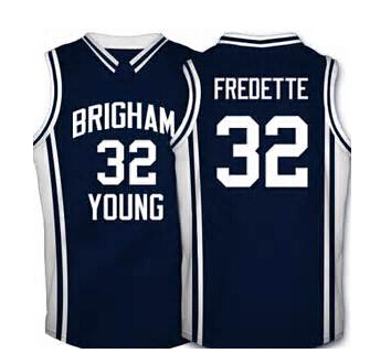 #33 Jimmer Fredette Brigham Young Cougars Basketball Jersey Custom Navy blue white New Material Top quality 100% stitched S-3XL(China (Mainland))