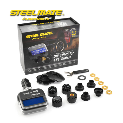 Steelmate TP-03S DIY TPMS Tire Pressure Monitoring System with 4 External Sensors for 4×4 off-road vehicle