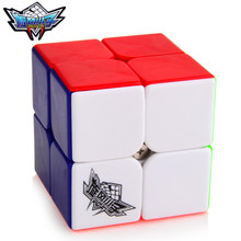 Brand New Cyclone Boys 50mm 2x2x2 Magic Cube Puzzle Cubes Challenge Gifts Educational Toys For Kids Children cubo magico(China (Mainland))