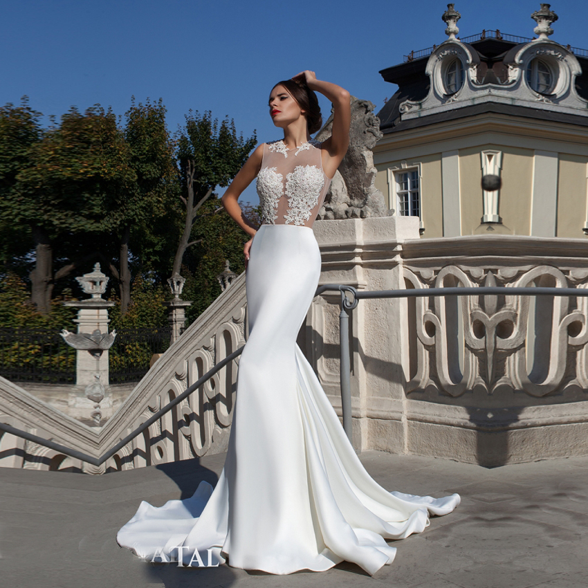 Vestido noiva 2015 bridal gowns see through lace corset for See through corset top wedding dress
