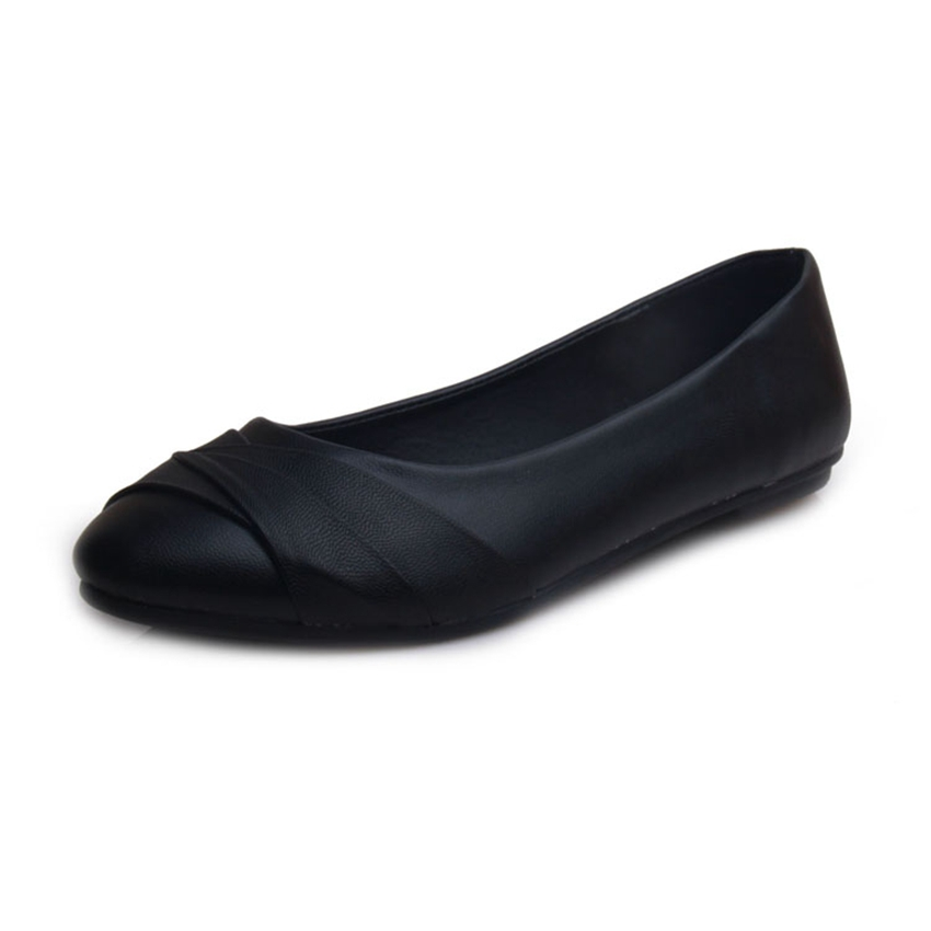 New Arrival 2015 Soft Women Shoes Spring Summer Women Single Work Shoes Flat Heel Woman Moccasins Ballet Flats Plus Size 35-43(China (Mainland))