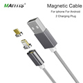 Mantis Micro USB magnetic cable charger nylon rope braided cable for iPhone 6 6s 7 for