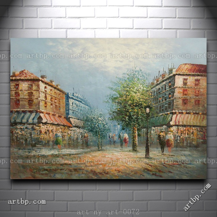 Paintings City Scenes Scene People in City Cheap