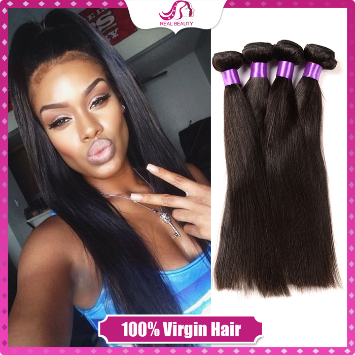 7A Malaysia straight Virgin Hair Grade Unprocessed Real Human Hair Extension With The Natural Color Soft Touch Hair(China (Mainland))