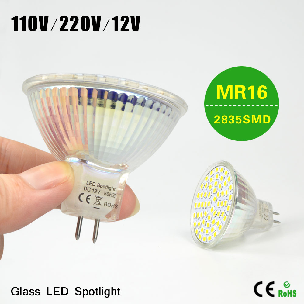 1Pcs High Quality AC110V/220V DC 12V MR16 7W LED Lamp Heat Resistant Body 2835SMD LED Spotlight Bulb Lamp For Bedroom Lighting(China (Mainland))