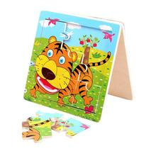 Funny Tiger Puzzle Educational Developmental Children Baby Wooden Toy Gift
