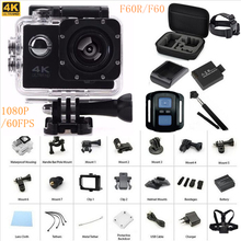 """Action camera F60R/F60 2.0"""" 4K 1080P HD  wifi action camera waterproof 30m go camera pro style+ extra battery +monopod charger(China (Mainland))"""