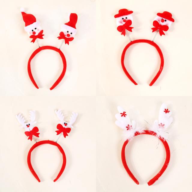 Accesorio diadema de pelo navidad Staghorns navidad cintas para el pelo de navidad alces Props ropa