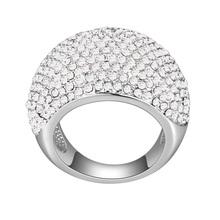 Hot Sale Original Swarovski Elements Crystal Pave Rings for Women Vintage Summer Style Sterling Silver CZ