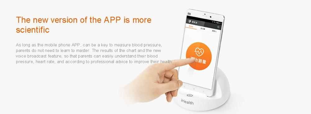 image for Original Xiaomi IHealth Bluetooth Smart Blood Pressure Dock Monitor Sy