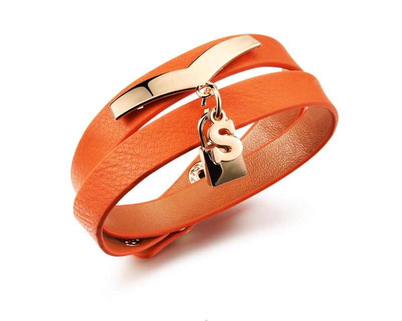 Новое Прибытие Мода Женщины Ювелирные Изделия Черный/Оранжевый/Белый Регулируемый Двойной Слой Кожаный Браслет Женщины Vintage Браслеты MPH1008