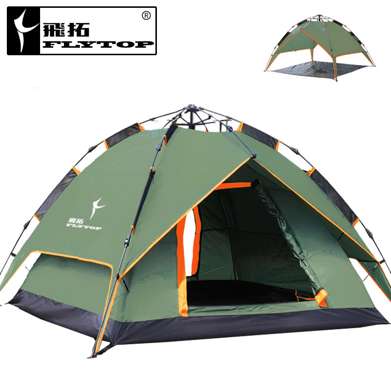 Extension outdoor camping tent double 3-4 double automatic tent than double weatherproof tent<br><br>Aliexpress