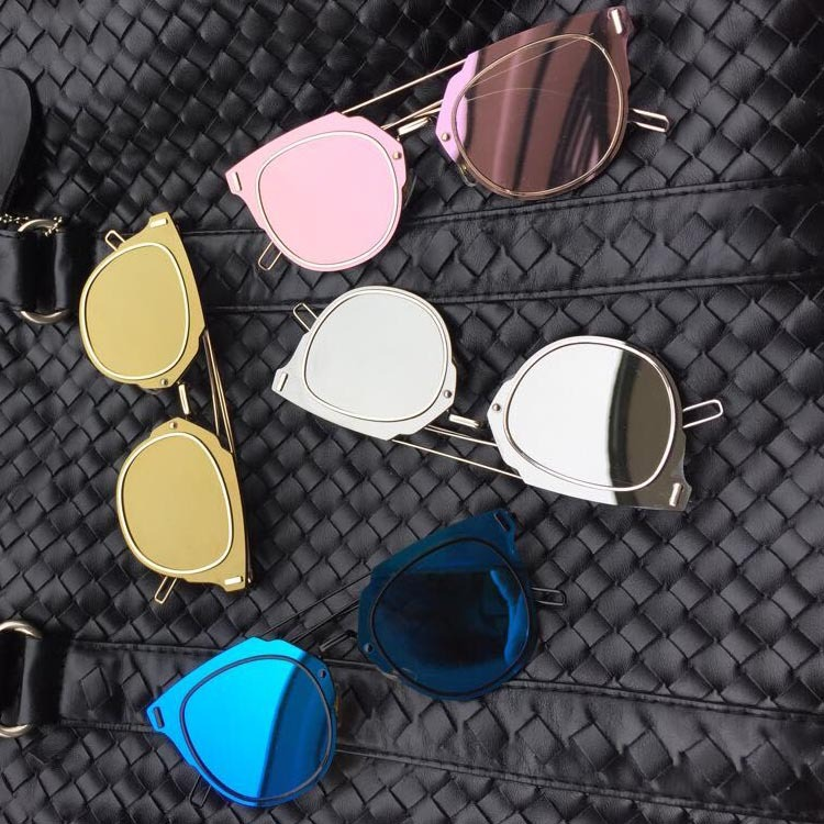 New Sunglasses Styles  new super quality metal flat top rivets sunglasses women alloy