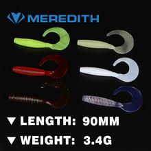 MEREDITH LURE JX41-09 Fishing Lure 10PCS 3.4g 90MM Retail hot model fishing soft lures fishing lures soft bait